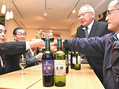 宮田産ブドウのワイン完成 「霜で苦労、貴重なワイン」