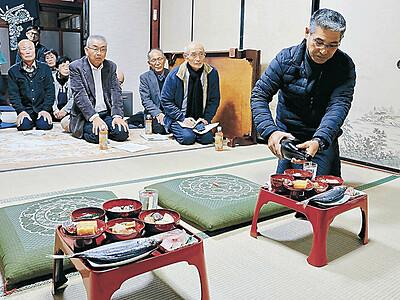 「田祭・山祭」次世代に 金沢・三谷地区 中村さん、父入院で継承