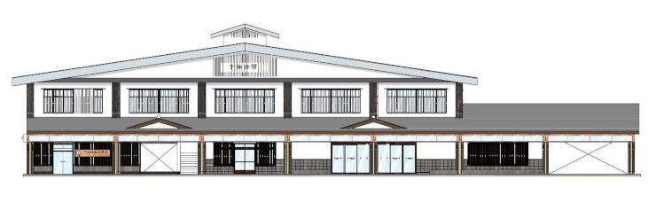 改装後の下諏訪駅舎外観のイメージ(JR東日本長野支社提供)