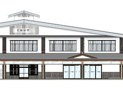 下諏訪駅舎、宿場の風情に 改装イメージ発表