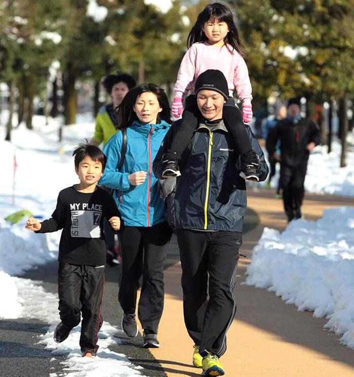 昨年の「大晦日マラソン」を走る参加者