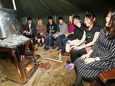 アウトドアサウナ楽しむ 15日まで富山城址公園