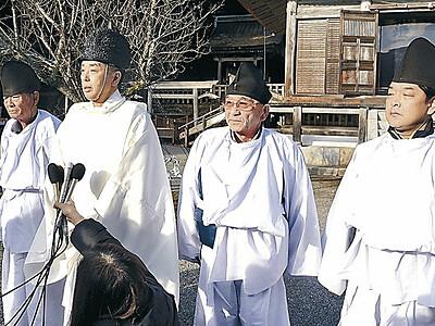 鵜祭、2年ぶり中止 羽咋・気多大社、「鵜様」捕まらず