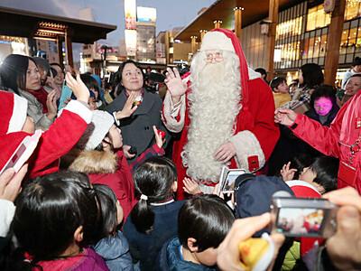 サンタさん、長野にやって来た! 21日まで県内に