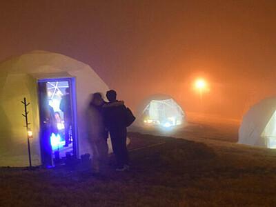 雪原のドーム形テントで「デコ鍋」 山ノ内のスキー場、21日から
