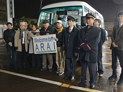 新井のグルメで外国人もてなし 無料送迎バス運行