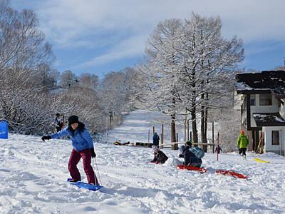 利用者限定!開業前にゴンドラ運行 野沢温泉スキー場