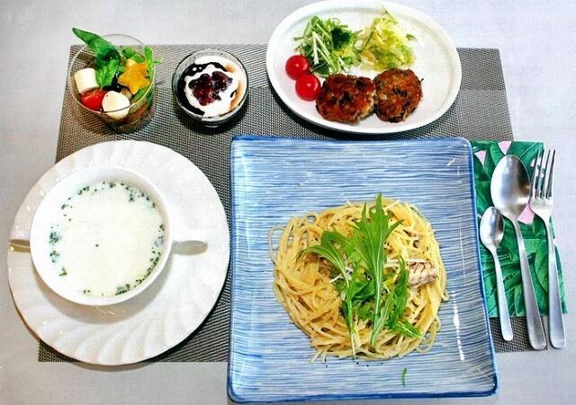 パスタやスープなどサバ缶を使った料理