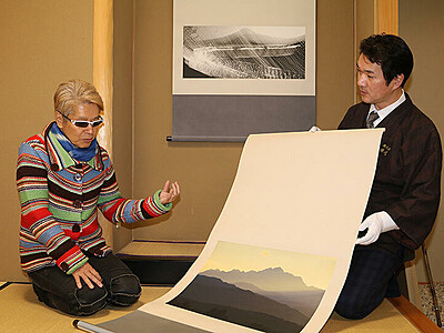 立山の写真を掛け軸に 写真家・テラウチマサトさん、1月富山で個展