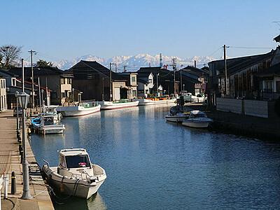 「日本のベニス」が舞台 新湊の内川で来年映画製作