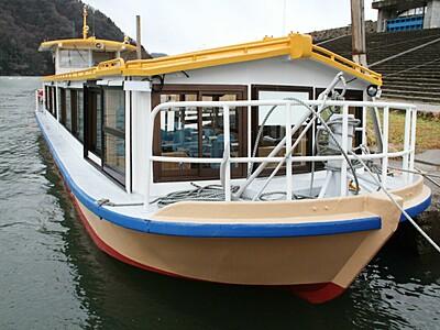 阿賀野川の遊覧船 元旦から2艇で運行 台風19号で被災