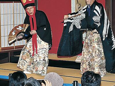 加賀万歳 年始祝う金沢の古典芸能披露