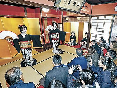 あでやか、新春の舞 東山で芸妓の遊芸