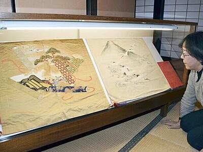 袱紗や屏風、新春の趣 3施設で美術品展示 福井・大野