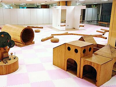 木製おもちゃ楽しんで 高岡なべ祭りの11、12日 セリオに子ども広場