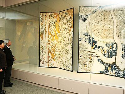 志功・光瑤の展示替え 福光美術館、雪や天神様モチーフ
