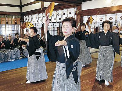 能登の伝統 まだら響く 尾山神社で初奉納