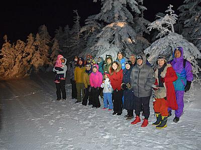 夜の志賀高原 樹氷の美しさ 山ノ内でゲレンデ周辺巡るツアー