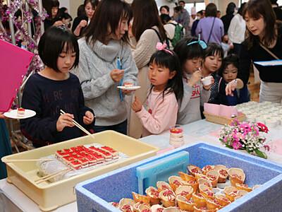 星形の菓子、グランプリ 昼神温泉郷のスイーツ決めるコンテスト