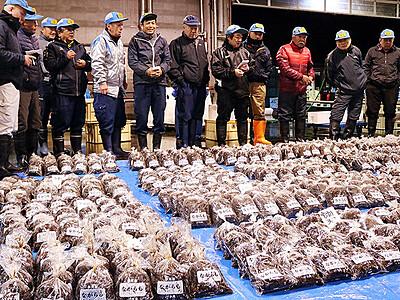 冬の味覚ナガラモ上々 氷見魚市場初競り