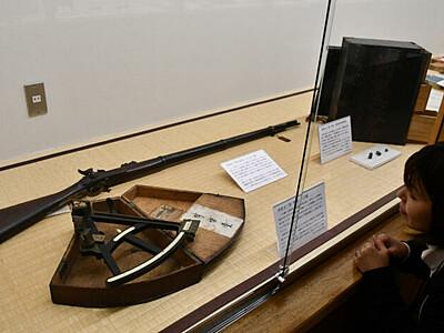 赤松小三郎の銃など公開 上田市立博物館