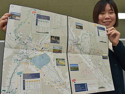 諏訪地方のサイクリングマップ好評 平地から山間地まで紹介