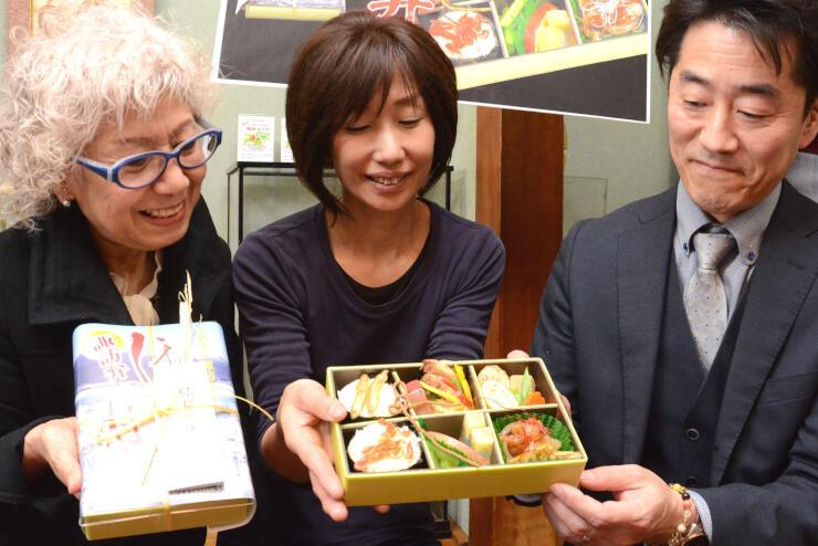 諏訪市の特産品を詰め込んだ弁当「諏訪弁『ほいじゃねぇ』」