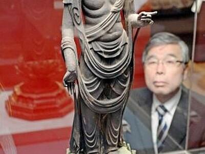 腰ひねった優雅な重文「聖観音菩薩立像」公開 福井