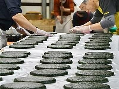 冬乗り切る池田の味 伝統ばんこもち作りピーク