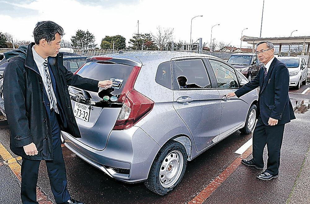 運用が始まったカーシェアリングサービス=小松空港