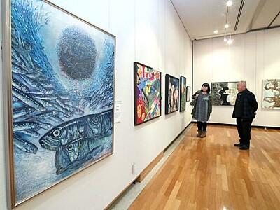 夢、悩み みずみずしく 長岡で全国中学美術部の絵画展