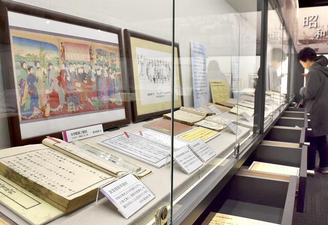音楽教育の歴史を紹介する特別展=福井県坂井市の県教育博物館