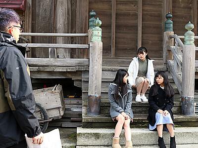 映画「#放生津カンタータ」新湊で撮影開始 NGTメンバー演技