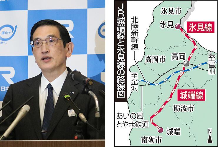 「直通化が実現可能になる」とLRT化のメリットを説明した長谷川社長=大阪市
