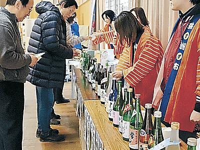 酒と能登の幸味わう 珠洲でまつり 酒蔵27カ所集まる