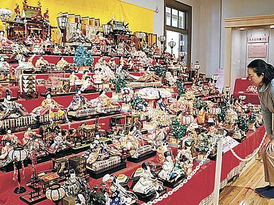 時代彩るひな人形 くらしの博物館 幕末から平成まで170体