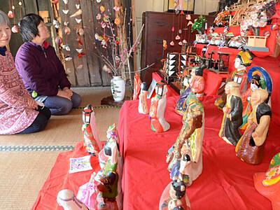 ひな人形、歴史重ね華やか 阿南の「宮下家住宅」で展示
