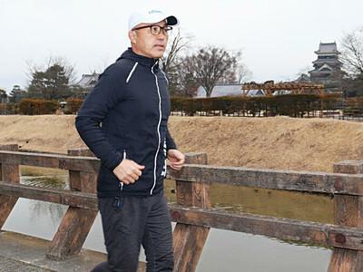金哲彦さん、コースを視察 松本マラソンゲストランナー