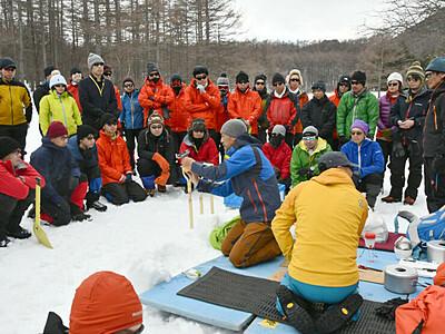 湯の丸舞台に南極想定訓練 第62次の地域観測隊員候補者ら