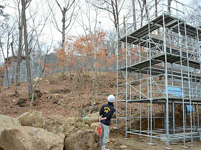オランウータンの新施設整備着々 長野市茶臼山動物園