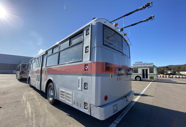 大町市が保存を目指すトロリーバス