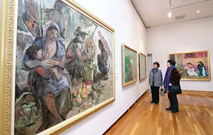 長岡市ゆかりの芸術家らの作品を集めた栃尾美術館の所蔵品展=長岡市上の原町