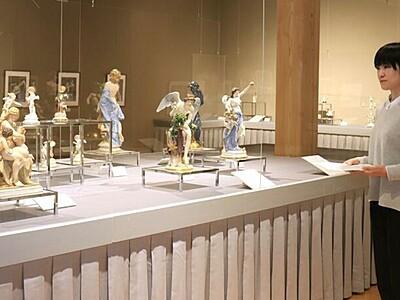 優美な磁器を味わう 雪梁舎美術館でマイセン展 新潟市