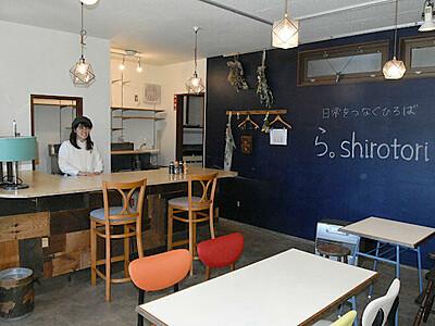 下諏訪駅の近くに交流情報拠点 来月オープンへ内覧会