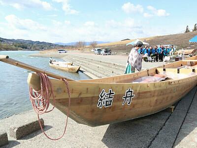 つなぎ舟 天竜川に復活 飯田で半世紀ぶり