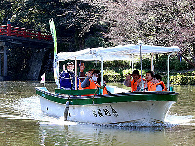 高岡古城公園の遊覧船運航スタート
