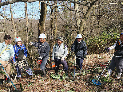 平氏軍最前線への道復活へ 小矢部の北蟹谷史跡愛護会