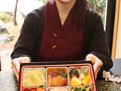 花見気分、弁当で味わって 中川の「望岳荘」土日限定販売へ