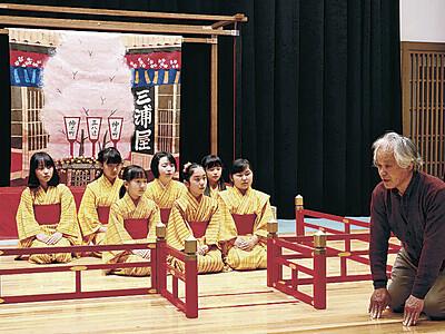 小松でこども歌舞伎稽古