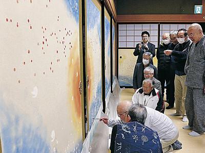 引退の住職残す 小松・本光寺にふすま絵